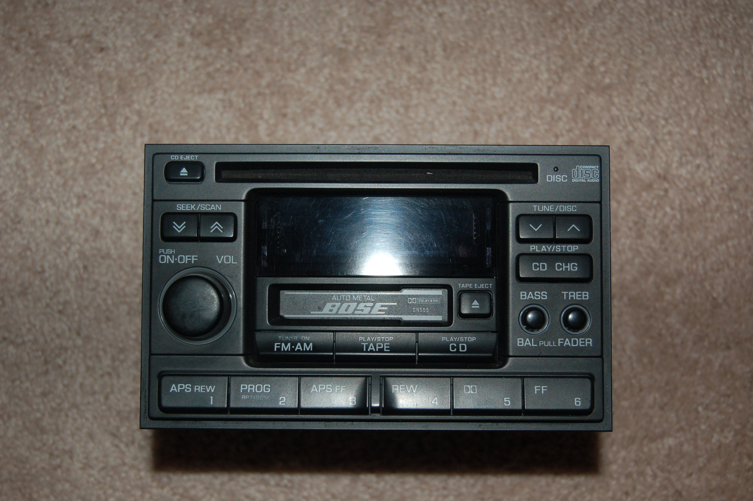 1997 Bose Double Din Stereo Radio